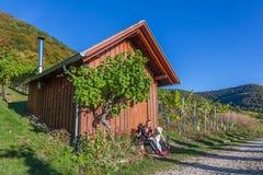Wandeling in de wijngaarden royalty-vrije stock foto's