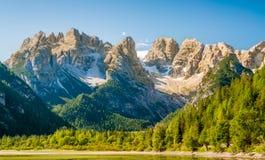 Wandeling in Dolomiet stock afbeelding