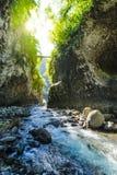 Wandeling in een canion van Bras DE La Plain bij Bijeenkomsteiland Stock Foto