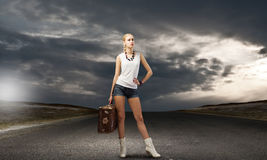 Wandeling het reizen Stock Fotografie