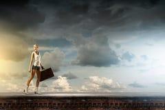 Wandeling het reizen Stock Foto's