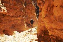 Wandeling in Kleurrijke canion royalty-vrije stock foto's
