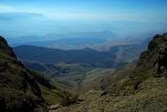 Wandeling in Lesotho Royalty-vrije Stock Foto's