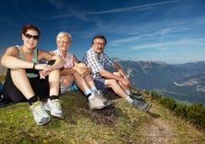 Wandeling met mijn ouders Royalty-vrije Stock Fotografie