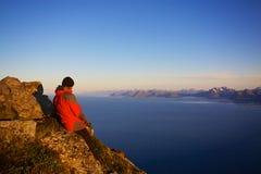 Wandeling in Noorwegen Royalty-vrije Stock Foto