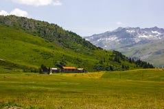 Wandeling op Alp Flix stock foto's