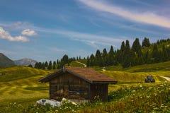 Wandeling op Alp Flix royalty-vrije stock fotografie