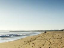 Wandeling op het strand Royalty-vrije Stock Foto's