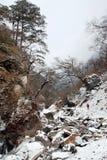 Wandeling in verre sneeuwberg royalty-vrije stock afbeelding