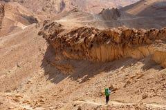 Wandeling in Woestijn Negev royalty-vrije stock fotografie