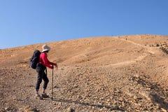 Wandeling in Woestijn Negev stock fotografie