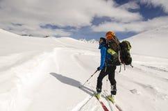 Wandeling in Zwitserse Alpen Stock Afbeeldingen