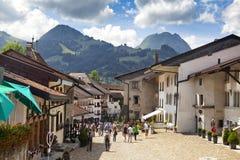Wandelingsachtergrond dichtbij Mont Blanc, Europese Westelijke Alpen stock foto's