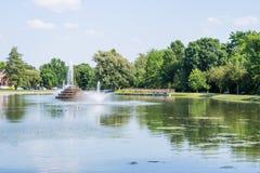 Wandelingsgebied in Baker Park in Frederick, Maryland royalty-vrije stock foto