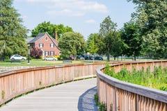 Wandelingsgebied in Baker Park in Frederick, Maryland stock afbeeldingen