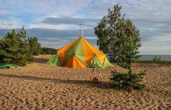 Wandelingssauna De golf van Finland Stock Foto's