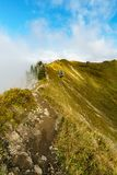 Wandelingssleep in het berglandschap van de Allgau-Alpen Stock Fotografie