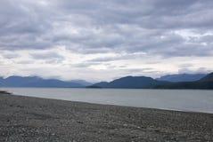 Wandelingssleep in het Chilkat-Park van de Staat dichtbij Haines Alaska royalty-vrije stock afbeelding