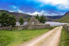 Wandelingssleep in het Nationale Park van Cairngorms Angus, Schotland, het UK stock foto