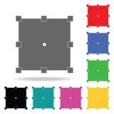 wandeln Sie Knopfikone um Elemente in den multi farbigen Ikonen für bewegliche Konzept und Netz apps Ikonen für Websitedesign und stock abbildung