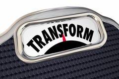 Wandeln Sie Skala-Diät verlieren Gewicht verbessern Gesundheits-Übergang um stock abbildung