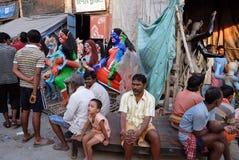 Wander- Leute in Kolkata Stockbild
