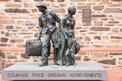 Wander- Statue in Adelaide, Australien Lizenzfreie Stockfotografie