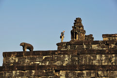 Wandered in Pre Rup, Angkor Royalty Free Stock Images