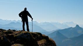 wanderer горы стоковая фотография rf
