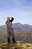 Wanderer auf Buachaille Etive MOR Lizenzfreie Stockfotografie