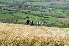 Wanderer auf dem Hügel Lizenzfreie Stockbilder