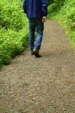 Wanderer auf der Spur. Lizenzfreie Stockbilder