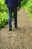 Wanderer auf der Spur. Lizenzfreies Stockbild