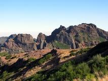 Wanderer auf Pico Aiero, Madeira stockbild
