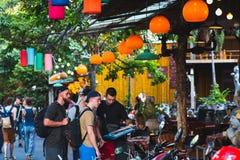 Wanderer in Bangkok lizenzfreies stockbild
