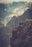 Wanderer in Berge Lizenzfreies Stockbild