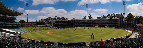 Wanderer-Cricketplatzpanorama Lizenzfreie Stockbilder