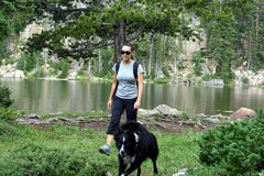 Wanderer in den Bergen Stockfotos