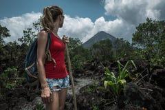 Wanderer der jungen Frau Lizenzfreie Stockfotos