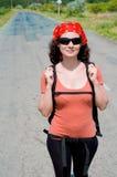 Wanderer in einem ländlichen Gebiet Stockfotos