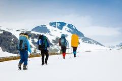 Wanderer gruppieren in der Wanderung Stockfotografie