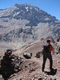 Wanderer im Berg Lizenzfreie Stockfotografie