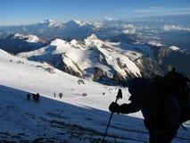 Wanderer im Berg Stockbilder