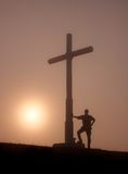 Wanderer im Berg Indamendi Lizenzfreie Stockfotos