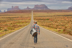 Wanderer or loner Stock Photography