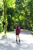 Wandererfrauenweg Lizenzfreies Stockfoto