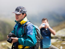 Wandererfreunde Stockbild