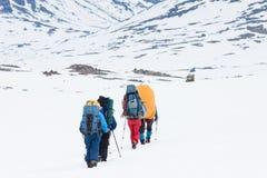 Wanderergruppe Stockbilder