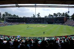 Wanderers Cricket Stadium. Image of World Record Wanderers Cricket stadium, Johannesburg South Africa, in a match between Australia and South Africa Stock Photo