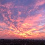 Wanderful桃红色天空 库存图片